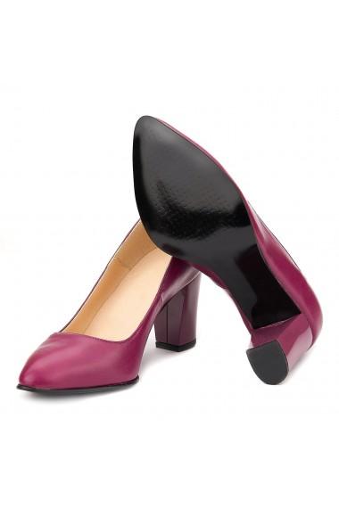 Pantofi cu toc din Piele Naturala Mov 4032