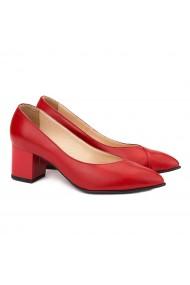 Pantofi din Piele Naturala Rosie 4037