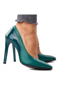 Pantofi din Piele Naturala Verde 4300