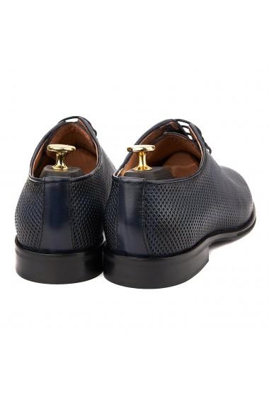 Pantofi Eleganti Albastru cu Talpa Construita 0014