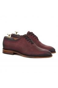 Pantofi Eleganti Bordo cu Talpa Construita 827