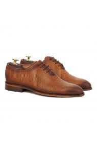 Pantofi Eleganti Coniac cu Talpa Construita 828