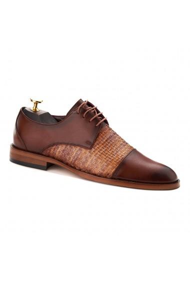 Pantofi Eleganti din Piele Impletita manual 762