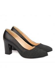 Pantofi cu toc Eleganti din Piele Naturala 4044
