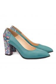 Pantofi cu toc Eleganti din Piele Naturala 4046