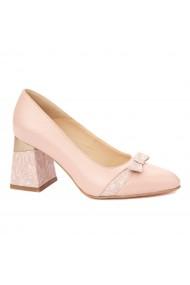 Pantofi cu toc eleganti din piele naturala 4334