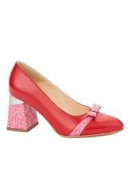 Pantofi cu toc eleganti din piele naturala 4335