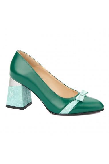 Pantofi cu toc eleganti din piele naturala 4336
