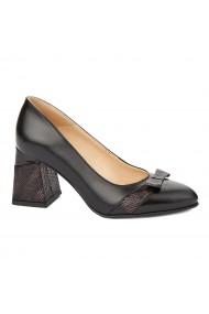 Pantofi cu toc eleganti din piele naturala 4337