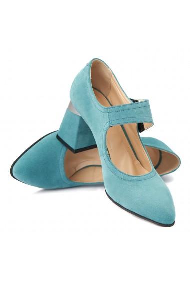 Pantofi cu toc eleganti din piele naturala 4387