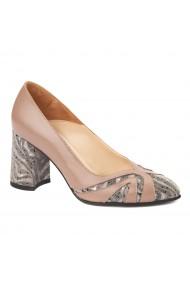 Pantofi cu toc eleganti din piele naturala 4390