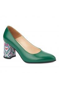 Pantofi cu toc eleganti din piele naturala 4393