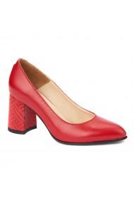 Pantofi cu toc eleganti din piele naturala 4394