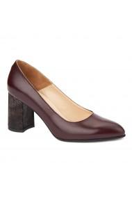 Pantofi cu toc eleganti din piele naturala 4395