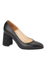 Pantofi cu toc eleganti din piele naturala 4397