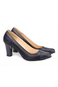 Pantofi Eleganti din Piele Naturala Bleumarin 4043