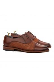 Pantofi Eleganti din Piele Naturala Maro 772