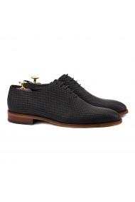 Pantofi eleganti din piele naturala neagra 0133