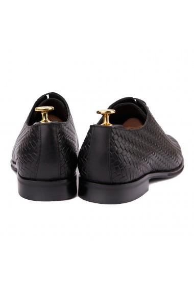 Pantofi eleganti din piele neagra 0121