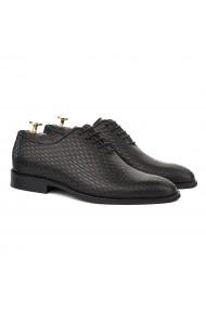 Pantofi Eleganti Negrii cu Talpa Construita 825