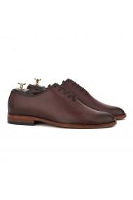 Pantofi Eleganti Piele Laserata Bordo 822