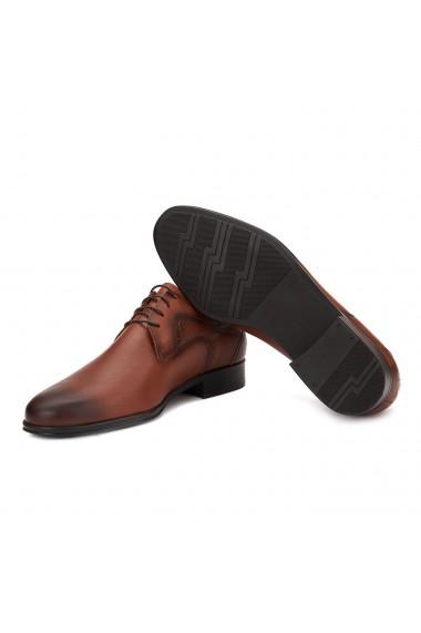 Pantofi eleganti piele naturala maro 1001