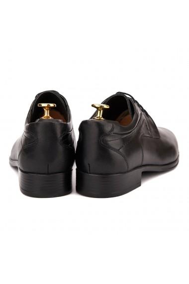 Pantofi eleganti piele naturala neagra 1002