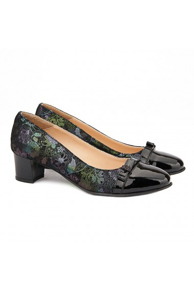 Pantofi Piele Naturala Neagra 4005