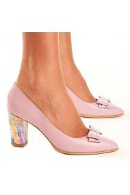 Pantofi Piele Naturala Roz 4000