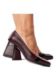 Pantofi stiletto eleganti din piele naturala 4282