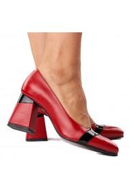 Pantofi stiletto eleganti din piele naturala 4283