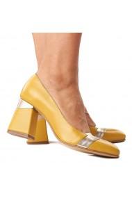 Pantofi stiletto eleganti din piele naturala 4289