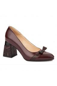 Pantofi cu toc stiletto eleganti din piele naturala 4316