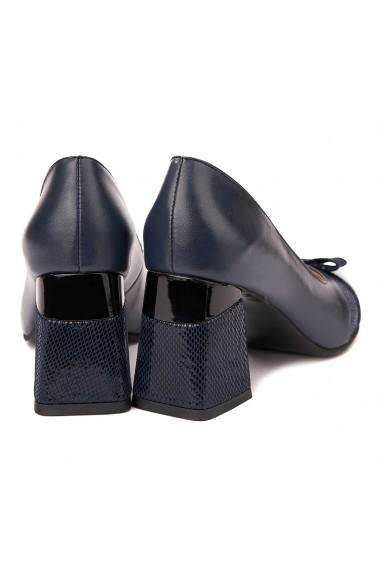Pantofi cu toc stiletto eleganti din piele naturala 4317