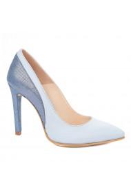 Pantofi cu toc toc subtire din piele naturala 4321