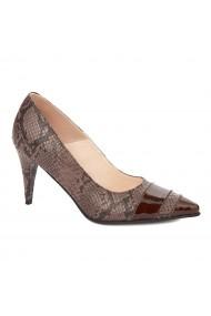 Pantofi cu toc toc subtire din piele naturala 4322