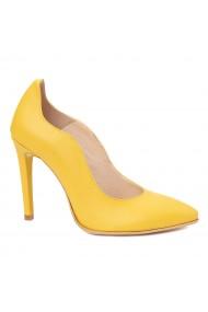Pantofi cu toc toc subtire din piele naturala 4357