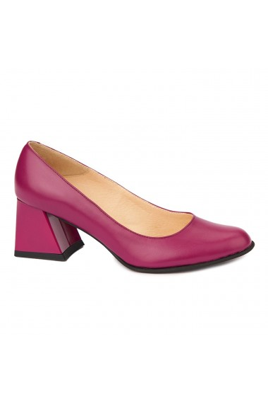 Pantofi cu toc dama din piele naturala 4407