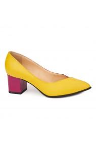 Pantofi cu toc dama din piele naturala 4410
