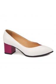 Pantofi cu toc dama din piele naturala 4409