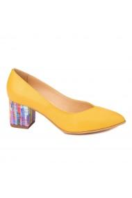 Pantofi cu toc dama din piele naturala 4413