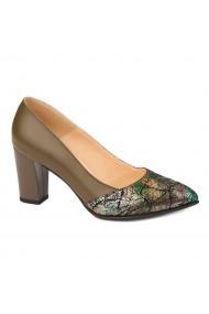 Pantofi cu toc dama din piele naturala 4414