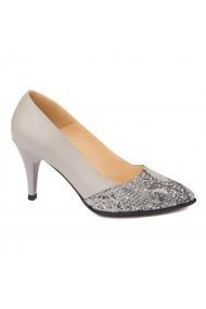 Pantofi cu toc dama din Piele Naturala 4416