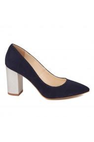 Pantofi dama din piele naturala bleomarin toc imbracat 4422