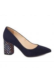 Pantofi dama din piele naturala bleomarin toc imbracat 4425