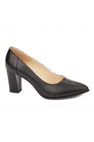 Pantofi cu toc dama din piele naturala 4459