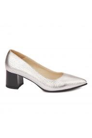 Pantofi cu toc dama din piele naturala 4460