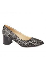 Pantofi cu toc dama din piele naturala 4463