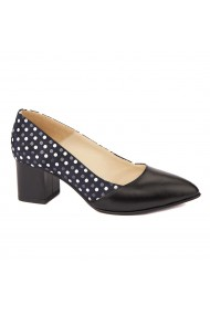 Pantofi cu toc dama din piele naturala 4464