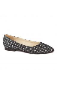 Pantofi cu toc dama din piele naturala 4468